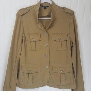 LAUREN Ralph Lauren Olive Tan Military Jacket